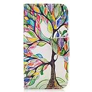 Недорогие Чехлы и кейсы для Galaxy A3(2016)-Кейс для Назначение SSamsung Galaxy A5(2017) A3(2017) Бумажник для карт Кошелек со стендом Флип Чехол дерево Твердый Кожа PU для A3