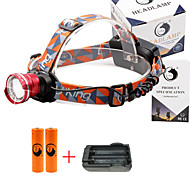 U'King Headlamps Headlight 2000 lm 3 Mode Cree XM-L T6 with Batteries and Charger Zoomable Adjustable Focus Compact Size Easy Carrying
