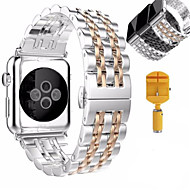 Watch Band For Apple Watch 3 Series 1 2 Stainless Steel Bracelet Butterfly Buckle
