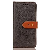 Недорогие Чехлы и кейсы для Galaxy S-Кейс для Назначение SSamsung Galaxy S8 Plus S8 Бумажник для карт Кошелек со стендом Магнитный С узором Рельефный Чехол Сплошной цвет