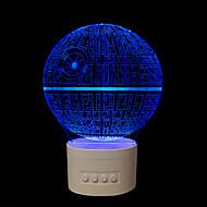 1 kpl viisi väriä alkuperäiseen kotiin lahjat bluetooth audio nuppi oh- 3d yövalosi