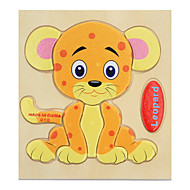 Jigsaw Puzzle Wooden Puzzles Educational Toy Toys Tiger Animals Kid's Children's Kids 1 Pieces