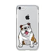 Na iPhone X iPhone 8 Etui Pokrowce Przezroczyste Wzór Etui na tył Kılıf Pies Miękkie Poliuretan termoplastyczny na Apple iPhone X iPhone