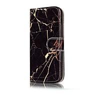 Недорогие Чехлы и кейсы для Galaxy A3(2016)-Кейс для Назначение SSamsung Galaxy A5(2017) A3(2017) Бумажник для карт Кошелек со стендом Флип Магнитный С узором Чехол Мрамор Твердый
