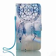 Für Geldbeutel Kreditkartenfächer mit Halterung Flipbare Hülle Muster Hülle Handyhülle für das ganze Handy Hülle Traumfänger HartPU -