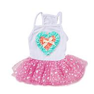 お買い得  -ネコ 犬 タキシード ドレス 犬用ウェア Stars ピンク ライトブルー シフォン コットン コスチューム ペット用 女性用 キュート ファッション 結婚式