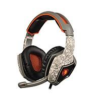 sades SA-918 professionell gaming headset surround stereohörlurar USB-kontakt med mikrofon för PC laptop
