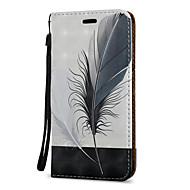 Кейс для Назначение SSamsung Galaxy J7 (2016) J5 (2016) Бумажник для карт со стендом Флип С узором Магнитный Чехол  Перья Твердый