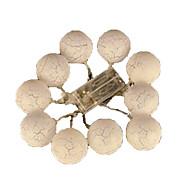 halpa LED-hehkulamput-2w merkkijono valot akku 1m 10 leds lämmin valkoinen koriste koristeellinen valo