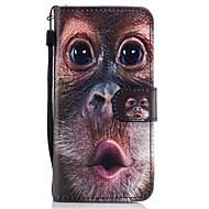 Для Кошелек Бумажник для карт со стендом Флип С узором Кейс для Чехол Кейс для Животный принт Твердый Искусственная кожа для SamsungA3