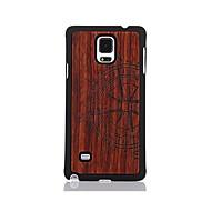 Для С узором Кейс для Задняя крышка Кейс для Мультяшная тематика Твердый Дерево для Samsung Note 4