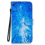Недорогие Чехлы и кейсы для Galaxy S8-Кейс для Назначение SSamsung Galaxy S8 Plus S8 Бумажник для карт Кошелек со стендом Флип С узором Чехол Пейзаж Твердый Кожа PU для S8