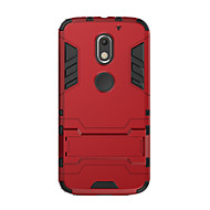 お買い得  携帯電話ケース-ケース 用途 Motorola 耐衝撃 スタンド付き バックカバー 純色 ハード PC のために Moto X Play Moto G4 Plus MOTO G4 Moto G3