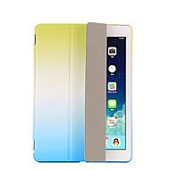 Varten Tuella AutomAutomaattinen auki/kiinni Flip Origami Etui Kokonaan peittävä Etui Liukuvärjätty Kova Tekonahka varten AppleiPad