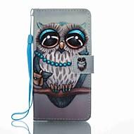 Für Geldbeutel Kreditkartenfächer mit Halterung Flipbare Hülle Muster Hülle Handyhülle für das ganze Handy Hülle Eule Hart PU - Leder für