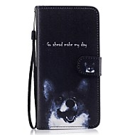 Недорогие Чехлы и кейсы для Galaxy S7-Кейс для Назначение SSamsung Galaxy S8 Plus S8 Кошелек Бумажник для карт со стендом Флип С узором Чехол С собакой Твердый Искусственная