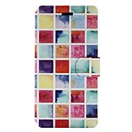 Для Бумажник для карт со стендом Флип С узором Кейс для Чехол Кейс для Плитка Твердый Искусственная кожа для HuaweiHuawei P9 Lite Huawei