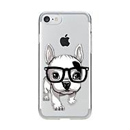 Назначение iPhone X iPhone 8 Чехлы панели Прозрачный С узором Задняя крышка Кейс для С собакой Мягкий Термопластик для Apple iPhone X