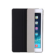 For Case Cover with Stand Auto Sleep / Wake Flip Translucent Origami Full Body Case Solid Color Hard PU Leather for Apple iPad pro 10.5