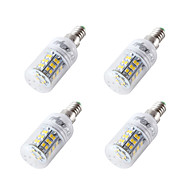cheap LED Corn Lights-4pcs 4W 300-350lm E14 E27 E26 LED Corn Lights T 48 LED Beads SMD 2835 Cold White 12-24V