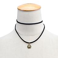 Недорогие $0.99 Модное ювелирное украшение-Жен. Ожерелья-бархатки / Ожерелья с подвесками / Кулоны - Загар и защита от солнца На заказ, В виде подвески, Простой стиль Черный Ожерелье Назначение Повседневные