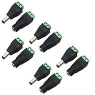 CCTV güvenlik kamera için dişi DC güç jakı adaptörü konektör fişine 5 paket 5,5 x 2.1mm varil güç 12v erkek şerit led