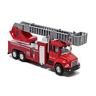 voordelige -Gegoten voertuigen Terugtrekvoertuigen Speelgoedauto's Brandweerwagen Speeltjes Metaallegering Metaal Stuks Kinderen Geschenk