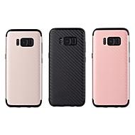 Недорогие Чехлы и кейсы для Galaxy S8-Кейс для Назначение SSamsung Galaxy S8 Plus S8 Защита от удара IMD Кейс на заднюю панель Сплошной цвет Мягкий ТПУ для S8 Plus S8