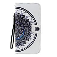 Недорогие Чехлы и кейсы для Galaxy J3(2016)-Кейс для Назначение SSamsung Galaxy J5 (2016) J3 (2016) Бумажник для карт Кошелек со стендом Кольца-держатели Флип С узором Чехол Мандала