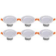 abordables Luces Descendentes-3W 6 LED Fácil Instalación Luz Empotrada Luces LED Descendentes Blanco Cálido Blanco Fresco AC 85-265V
