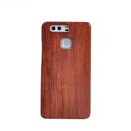 お買い得  携帯電話ケース-ケース 用途 Huawei社P9 Huawei 耐衝撃 バックカバー 木目 ハード 木製 のために Huawei P9 Huawei