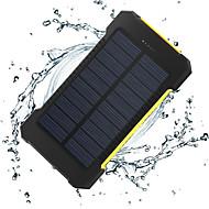 Недорогие Портативные аккумуляторы-8000mAh Power Bank Внешняя батарея 5V 1.0A 2.0AA Зарядное устройство Подсветка Несколько разъемов Зарядка от солнца Очень тонкий