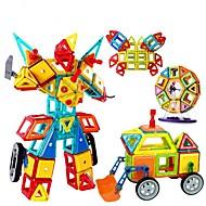 billige Model- og byggelegetøj-Magnetisk blok Magnetisk byggesæt 128 pcs Gave Magnetisk GDS 3D Bil Robot Pariserhjul Børne Pige Drenge Gave