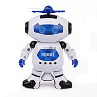 공간 댄스 음악 적외선 전기 로봇 장난감은 360 개도 조명을 회전