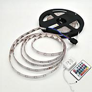 abordables EU Almacén-5 m Sets de Luces 300 LED SMD 2835 1 Controlador remoto de 24 teclas RGB Impermeable / Decorativa 12 V 1 juego / IP65