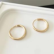 Недорогие $0.99 Модное ювелирное украшение-Жен. Серьги-кольца Серьги - Простой стиль, Мода Серебряный / Золотой Назначение Повседневные Спорт