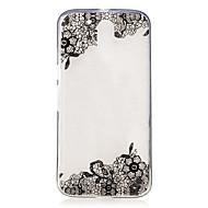voordelige Mobiele telefoonhoesjes-hoesje Voor Motorola IMD Transparant Patroon Achterkant Lace Printing Zacht TPU voor Moto G4 Plus Moto G4 Play