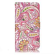 lg g6 burkolata paprika virág mintás ragyog megkönnyebbülés pu anyag kártya stent pénztárca telefon esetében