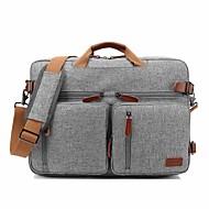 """baratos -coobell 17 """"saco do mensageiro do ombro do portátil / trouxa do viajante / bolsas maleta cor sólida de matéria têxtil para o escritório para negócios"""
