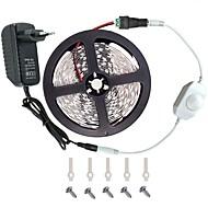 お買い得  -KWB 5m ライトセット 300 LED 5050 SMD 温白色 / ホワイト / レッド カット可能 / 調光可能 / 接続可 12 V / 車に最適 / ノンテープ・タイプ / IP44