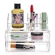 お買い得  メイクアップ用品-化粧品箱 Others メイク用品収納 クリア ファッション 四辺形 プラスチック
