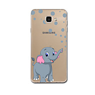 Недорогие Чехлы и кейсы для Galaxy A8-Кейс для Назначение SSamsung Galaxy A7(2017) / A5(2017) Ультратонкий / С узором Кейс на заднюю панель Слон Мягкий ТПУ для A5 (2017) / A7
