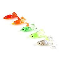 お買い得  釣り用アクセサリー-5 個 ソフトベイト ルアー カエル ソフトプラスチック 海釣り スピニング ジギング 川釣り 一般的な釣り ルアー釣り バス釣り