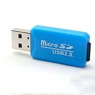 abordables Lector de Tarjetas-Tarjeta Micro SD USB 2.0 Lector de tarjetas