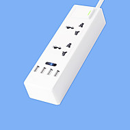Super Speed ​​Power Strip met 2 voet snoer slimme 4 USB voedingsadapter 220v 10a us plug