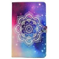 Недорогие Чехлы и кейсы для Samsung Tab-Кейс для Назначение SSamsung Galaxy Вкладка 9,7 Вкладка 8,0 Бумажник для карт Кошелек Флип С узором Чехол Мандала Цветы Твердый Кожа PU