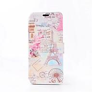 Недорогие Чехлы и кейсы для Galaxy S-Кейс для Назначение SSamsung Galaxy S8 Plus S8 Бумажник для карт со стендом Флип С узором Чехол Эйфелева башня Твердый Кожа PU для S8