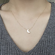 Women's Pendant Necklaces Moon Alloy Fashion Silver Gold Jewelry For Daily 1pc