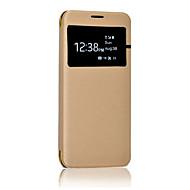 Кейс для Назначение SSamsung Galaxy S8 Plus S8 с окошком Флип Полупрозрачный Чехол Сплошной цвет Твердый Искусственная кожа для S8 S8