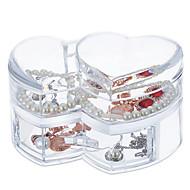 大容量愛する心臓メイクの宝石のストレージ化粧品オーガナイザーの表示ボックス引き出し